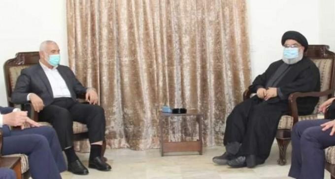 Le chef du Hezbollah, Hassan Nasrallah, reçoit aujourd'hui une délégation du Hamas dirigée par le président du mouvement Ismail Haniya.