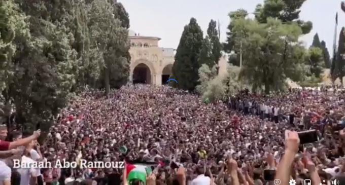 Ce vendredi à AlAqsa, les Palestiniens fêtent leur victoire historique contre l'occupant !