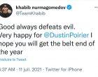 Khabib Nurmagomedov sur la défaite de l'arrogant et ignoble Mc Gregor :