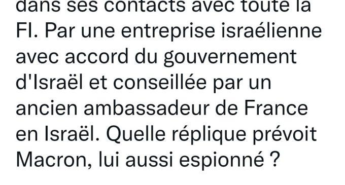 Une réplique ? Il faudrait être très naïf… Le roquet français jappe face à la Russie mais s'aplatit face à Washington et à Israël !
