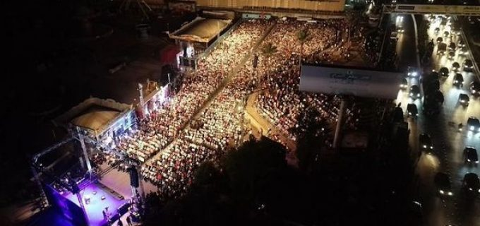 Rassemblement monstre des chrétiens libanais du MPL de Michel Aoun (allié du Hezbollah